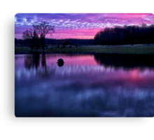 Red Sky at Morning Canvas Print
