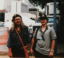 Upside-Down Artist L. R. Emerson II with Arlo Guthrie by L R Emerson II