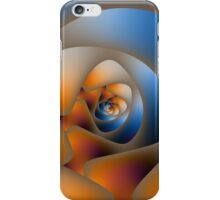 Spiral Labyrinth in Orange and Blue iPhone Case/Skin