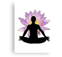 Yoga Lotus Pose - Meditation  Canvas Print