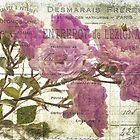 Vintage Pink Roses by Karen Lewis