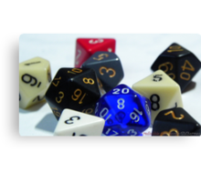 RPG Dices Canvas Print