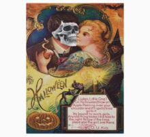 Embracing Death (Vintage Halloween Card) by Welte Arts & Trumpery