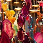 Decorative hanging mobiles at Birmingham Christmas market by Magdalena Warmuz-Dent