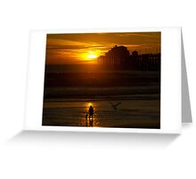 Mother and Child at Sunset Greeting Card