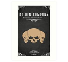 Golden Company Art Print