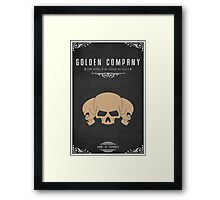 Golden Company Framed Print