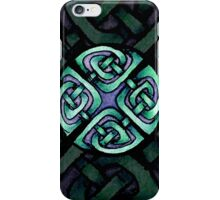 Traditional Celtic Design in Turquoise iPhone Case/Skin
