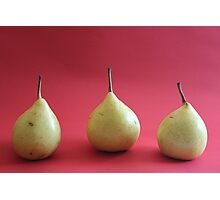 Three's a crowd, pear me up Photographic Print