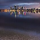 Tranquil Perth City Scape by Kymie