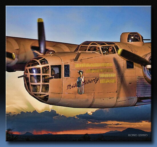 Miss. Liberty - B24 Liberator by Richard  Gerhard