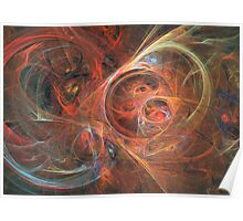 Abstract galaxy Poster