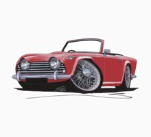 Triumph TR5 Red by Richard Yeomans