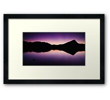 The Beauty Of Blue Hour Framed Print