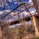 One Lane Bridge in Clifton, Texas by Terence Russell