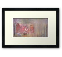 What's the message she waits for?... Love Framed Print