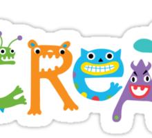 I Create Critters Sticker