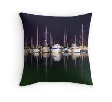 Cullen Bay Boats Throw Pillow