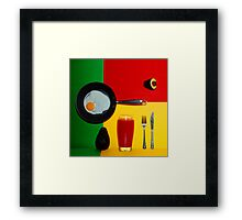 Psychedelic Breakfast Framed Print