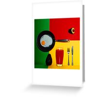 Psychedelic Breakfast Greeting Card