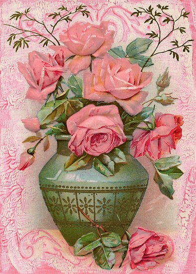 Old Fashioned Rose Bouquet by Sandra Foster