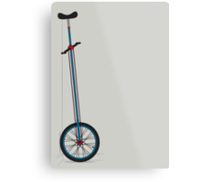 Very Tall Unicycle Metal Print