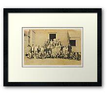 THROWBACK: A 1917 One Room Schoolhouse Framed Print