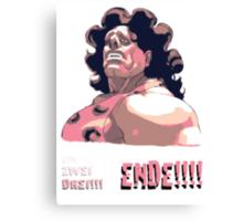 Hugo - EIN ZWEI DREI!!! ENDE! Canvas Print