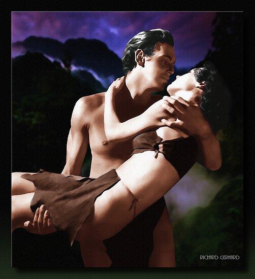 Tarzan and Jane  (In Oil) by Richard  Gerhard