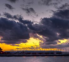 Sunset Over Edmonds Marina by Jim Stiles