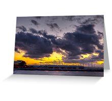 Sunset Over Edmonds Marina Greeting Card
