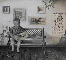 the proofreader - Koko Black Drawing Prize Finalist by Sorina Williams