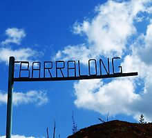 Barralong signpost after Calignee Fires of 09 by Bev Pascoe