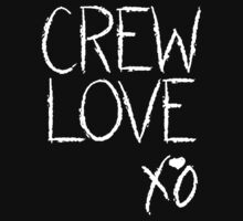 Crew Love XO (White) by Faded Fabrics