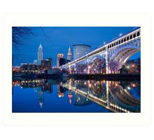 The city of Cleveland Art Print
