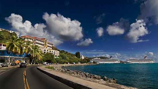 Downtown Charlotte Amalie  by iamwiley