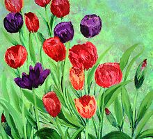 Tulips in the garden by maggie326