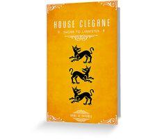 House Clegane Greeting Card
