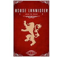 House Lannister Photographic Print
