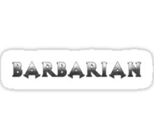 Barbarian (Silver Version) Sticker