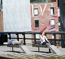 High Line, Spring View, New York's Elevated Garden and Park by lenspiro