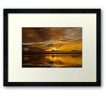 Golden Day. (sunrise ) Framed Print