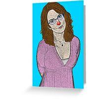 Tina Fey SNL 30 Rock Greeting Card