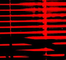 Red Blinds Black Lines by Rebecca Lee Means