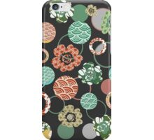 orange & green Japanese blossoms iPhone Case/Skin