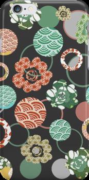 orange & green Japanese blossoms by offpeaktraveler