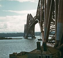 Forth Bridge from e North Queensferry 195709080005  by Fred Mitchell
