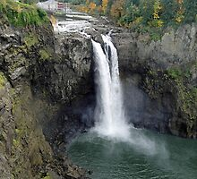Snoqualmie Falls in Autumn by Robert Meyers-Lussier