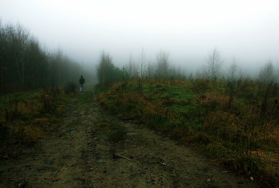 Walking from the fog by Samuel Glassar