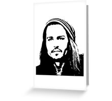 Johnny Depp #2 - clothing, stickers & iPhone cases Greeting Card
